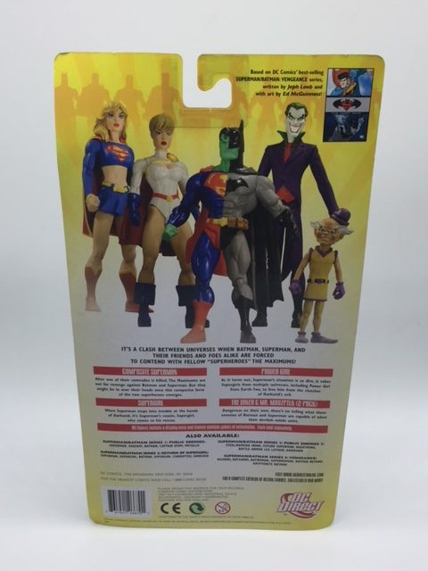 POWER GIRL figurine articulée – Batman-Superman - Vengeance 2 - series 5 - DC Direct – 761941266701 – back box - Kingdom Figurine