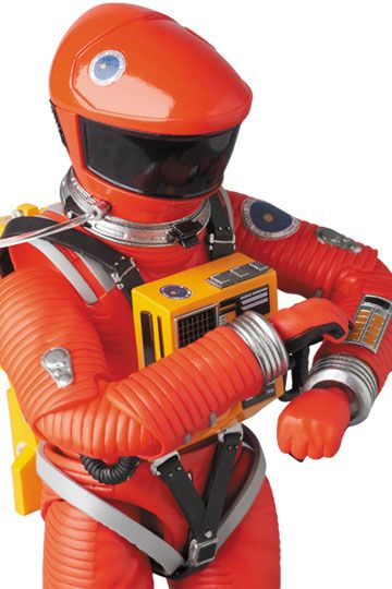 2001, L'ODYSSÉE DE L'ESPACE FIGURINE ARTICULÉE - MAF EX SPACE SUIT ORANGE VERSION - MEDICOM TOY - 16 CM - 4530956470344 - 5 - kingdom-figurine.fr