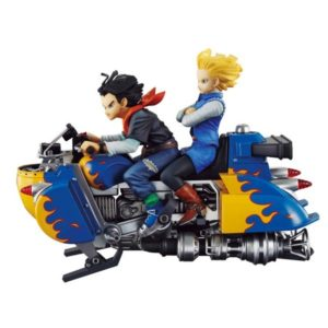 C-17 & C-18 AIRBIKE FIGURINE - DBZ DESKTOP REAL McCOY VOL. 4 - MEGAHOUSE - 15 CM - 4535123819384 - 1 - kingdom-figurine.fr