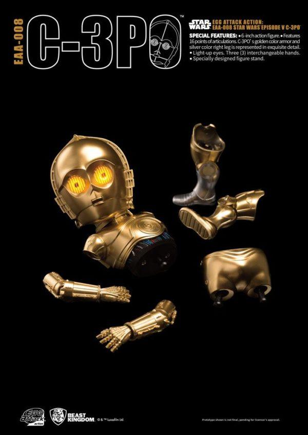 C-3PO FIGURINE ARTICULÉE EGG ATTACK - STAR WARS ÉPISODE V - BEAST KINGDOM TOYS - 15 CM - 4712896100769 - 3 - kingdom-figurine.fr