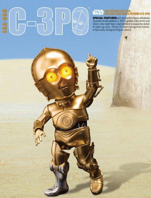 C-3PO FIGURINE ARTICULÉE EGG ATTACK - STAR WARS ÉPISODE V - BEAST KINGDOM TOYS - 15 CM - 4712896100769 - 5 - kingdom-figurine.fr
