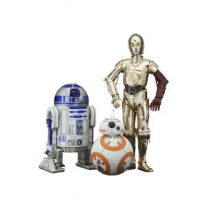 C-3PO & R2-D2 & BB-8 PACK DE 3 FIGURINES PVC - ARTFX - STAR WARS ÉPISODE VII - KOTOBUKIYA -4934054902934 - kingdom-figurine.fr