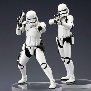 FIRST ORDER STORMTROOPER PACK 2 FIGURINES PVC - ARTFX+ - STAR WARS ÉPISODE VII - KOTOBUKIYA - 18 CM - 4934054902743 - figurine.fr