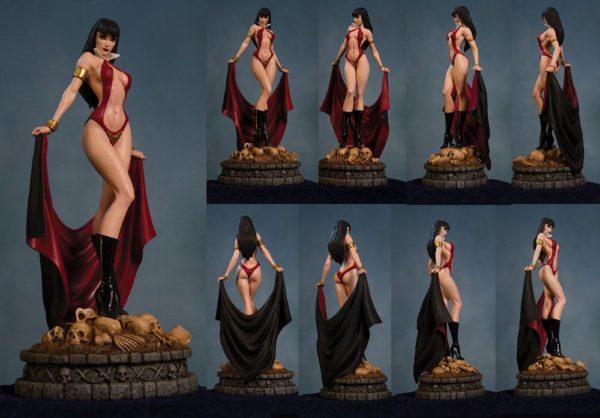 VAMPIRELLA STATUETTE RÉSINE - WOMEN OF DYNAMITE - 30 CM - DYNAMITE ENTERTAINMENT - 725130233578 - 2- kingdom-figurine.fr