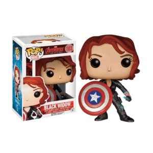 BLACK WIDOW WITH SHIELD FIGURINE - AVENGERS AGE OF ULTRON - EXCLU - FUNKO - POP MARVEL 103– 849803065089 – kingdom-figurine.fr