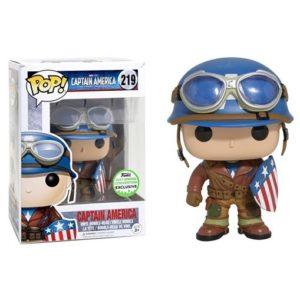 CAPTAIN AMERICA WWII FIGURINE - MARVEL - EXCLU ECCC 2017 - FUNKO - POP 219 – 889698130271 – kingdom-figurine.fr