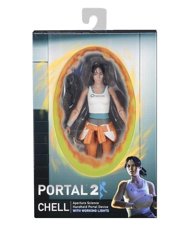 CHELL FIGURINE - PORTAL 2 - NECA - 18 CM – (5) - 634482453254 – kingdom-figurine.fr