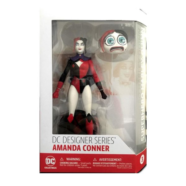 HARLEY QUINN FIGURINE ARTICULÉE - DC COMICS - DESIGNER SERIES - SUPERHERO BY AMANDA CONNER - DC COLLECTIBLES - 17 CM - in box - DCCAPR160441 – 761941342061 – kingdom-figurine.fr