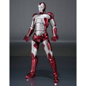 IRON MAN MARK V & HALL OF ARMOR SET FIGURINE ARTICULÉE - IRON MAN 2 -S.H. FIGUARTS -TAMASHII NATIONS - 15 CM - 4549660177869 - kingdom-figurine.fr