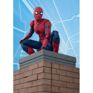 SPIDER-MAN FIGURINE ARTICULÉE -MARVEL SPIDER-MAN HOME COMING - OPTION ACT WALL S.H. -FIGUARTS -TAMASHII NATIONS - 15 CM - 4549660186588 - kingdom-figurine.fr