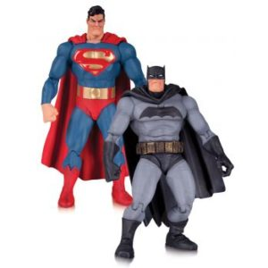 SUPERMAN & BATMAN PACK DE 2 FIGURINES ARTICULÉES DC COMICS THE DARK KNIGHT RETURNS 30TH ANNIVERSARY DC COLLECTIBLES 17 CM - 0 - DCCAUG150312 – 761941335124 – kingdom-figurine.fr