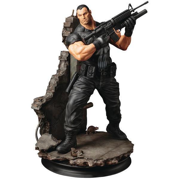 Une statue résine du Punisher à l'échelle 1/6
