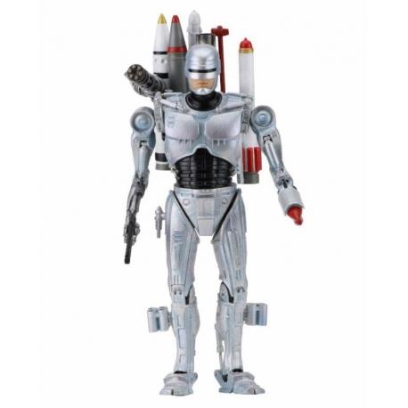 ULTIMATE FUTURE ROBOCOP FIGURINE ARTICULÉE - ROBOCOP VS THE TERMINATOR - NECA - 18 CM – (1Bis) – 634482420775 – kingdom-figurine.fr