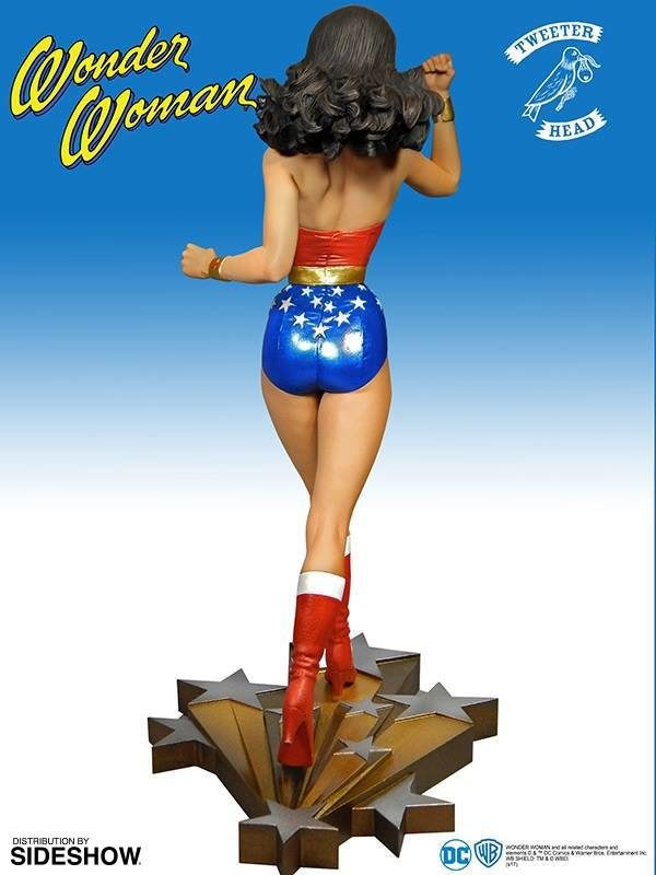 WONDER WOMAN STATUETTE RÉSINE - THE NEW ADVENTURE OF WONDER WOMAN - MAQUETTE DC COMICS - TWEETERHEAD - 34 CM - 6 - 040232584626 – kingdom-figurine.fr