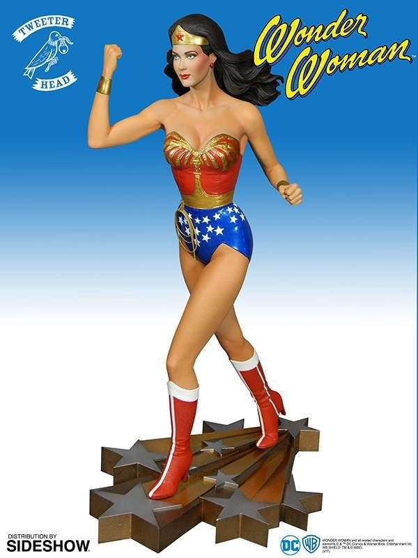 WONDER WOMAN STATUETTE RÉSINE - THE NEW ADVENTURE OF WONDER WOMAN - MAQUETTE DC COMICS - TWEETERHEAD - 4 - 34 CM - 040232584626 – kingdom-figurine.fr