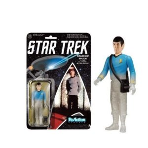 BEAMING SPOCK FIGURINE ARTICULÉE - STAR TREK - RE-ACTION - SUPER7 - 10 CM – (1) - 849803065232 – kingdom-figurine.fr