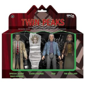 DALE COOPER, LAURA PALMER, BOB & LOG LADY PACK 4 FIGURINES - TWIN PEAKS - RE-ACTION - SUPER7 - 9 CM – (1) - 889698201261 – kingdom-figurine.fr