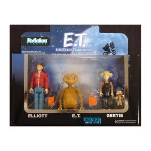 ELLIOT, E. T. & GERTIE PACK 3 FIGURINES - E.T. L'EXTRATERRESTRE - RE-ACTION - SUPER7 - 9 CM – (1) - 889698135870 – kingdom-figurine.fr