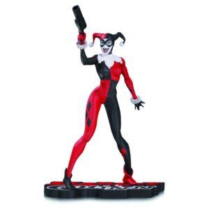 HARLEY QUINN STATUETTE RÉSINE - RED, WHITE & BLACK BY JIM LEE - DC COMICS - DC COLLECTIBLES - 17 CM - 0 - DCCSEP160380 – 761941345475 – kingdom-figurine.fr