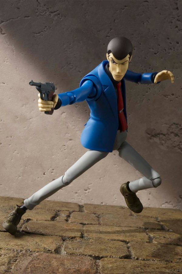 LUPIN THE THIRD FIGURINE ARTICULÉE - SH FIGUARTS - TAMASHII NATIONS - 15 CM – 1 - 4549660040910 – kingdom-figurine.fr