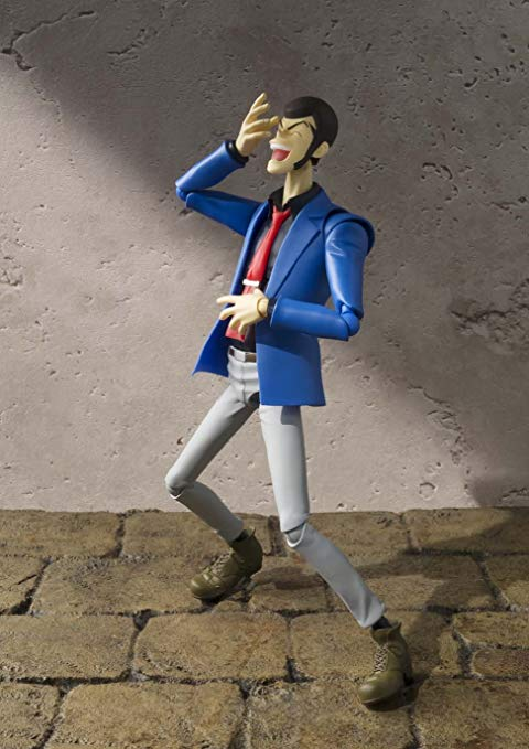 LUPIN THE THIRD FIGURINE ARTICULÉE - SH FIGUARTS - TAMASHII NATIONS - 15 CM – 3 - 4549660040910 – kingdom-figurine.fr