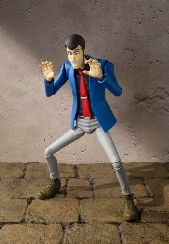 LUPIN THE THIRD FIGURINE ARTICULÉE - SH FIGUARTS - TAMASHII NATIONS - 15 CM – 5 - 4549660040910 – kingdom-figurine.fr
