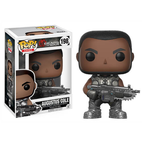 AUGUSTUS COLE FIGURINE - GEARS OF WAR - FUNKO - POP GAMES 198 – 889698121910 – kingdom-figurine.fr