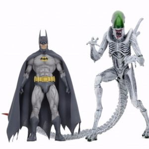 BATMAN VS ALIEN PACK DE 2 FIGURINES ARTICULÉES - BATMAN VS ALIENS - NECA - 18 CM – (0) - 634482516553 – kingdom-figurine.fr