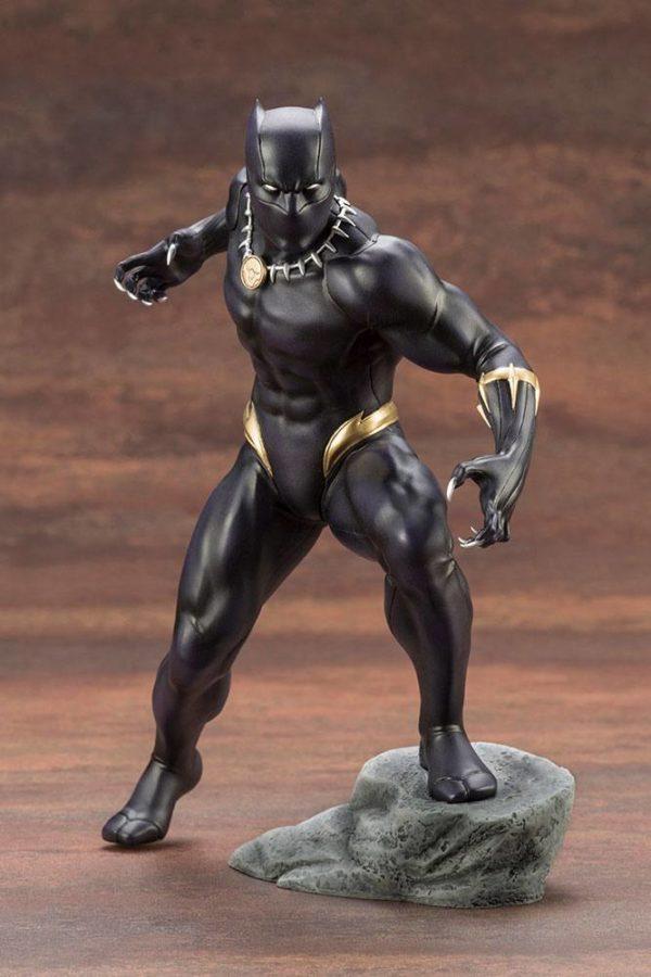 BLACK PANTHER STATUE PVC - ARTFX+ - 1-10 - MARVEL COMICS - KOTOBUKIYA - 17 CM – (2) - 190526011823 – kingdom-figurine.fr