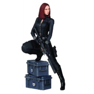 BLACK WIDOW STATUE RÉSINE – MARVEL - CAPTAIN AMERICA 2 (THE WINTER SOLDIER) - GENTLE GIANT - 22 CM – (1) - 814176020812 – kingdom-figurine.fr