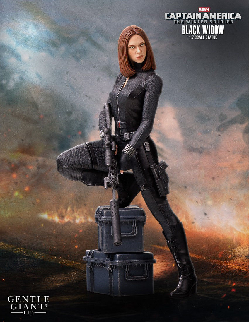 BLACK WIDOW STATUE RÉSINE CAPTAIN AMERICA 2 (THE WINTER ...Captain America 2 Poster Black Widow