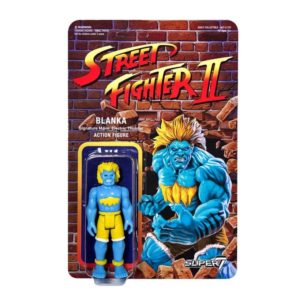 BLANKA FIGURINE ARTICULÉE - EXCLUSIVE BLUE VARIANT - STREET FIGHTER II - RE-ACTION - SUPER7 - 10 CM – (1) – 605930564464 – kingdom-figurine.fr