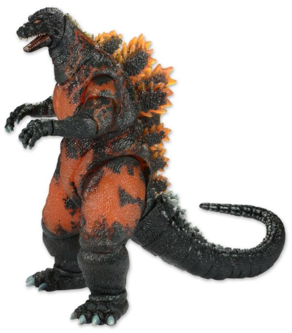 BURNING GODZILLA HEAD TO TAIL FIGURINE ARTICULÉE - GODZILLA 1995 - NECA - 30 CM – (1) - 634482428115 – kingdom-figurine.fr