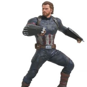 CAPTAIN AMERICA STATUE - AVENGERS INFINITY WAR - MARVEL GALLERY - DIAMOND SELECT TOYS - (1Bis) - 23 CM – 699788828656 – kingdom-figurine.fr