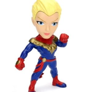 CAPTAIN MARVEL FIGURINE - MARVEL - JADA - METALS DIE CAST M350 – (1Bis) - 801310980927 – kingdom-figurine.fr