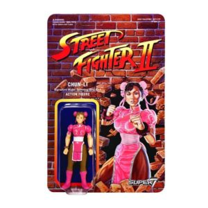 CHUN-LI FIGURINE ARTICULÉE - EXCLUSIVE PINK VARIANT - STREET FIGHTER II - RE-ACTION - SUPER7 - 10 CM – (1) – 605930564440 – kingdom-figurine.fr