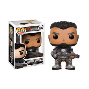 DOMINIC SANTIAGO FIGURINE - GEARS OF WAR - FUNKO - POP GAMES 196 – 889698121897 – kingdom-figurine.fr