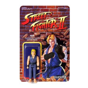 KEN FIGURINE ARTICULÉE - EXCLUSIVE PURPLE VARIANT - STREET FIGHTER II - RE-ACTION - SUPER7 - 10 CM – (1) - 605930564433 – kingdom-figurine.fr