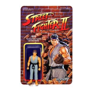 RYU FIGURINE ARTICULÉE - EXCLUSIVE GREY VARIANT - STREET FIGHTER II - RE-ACTION - SUPER7 - 10 CM – (1) - 605930564426 – kingdom-figurine.fr