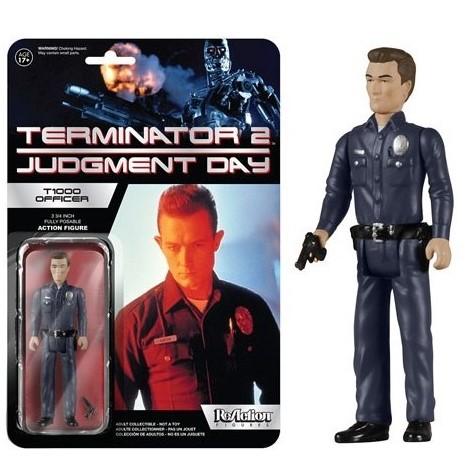 T-1000 OFFICER FIGURINE ARTICULÉE - TERMINATOR 2 - (JUDGEMENT DAY) - RE-ACTION - SUPER7 - 10 CM – (1) - 849803054175 – kingdom-figurine.fr