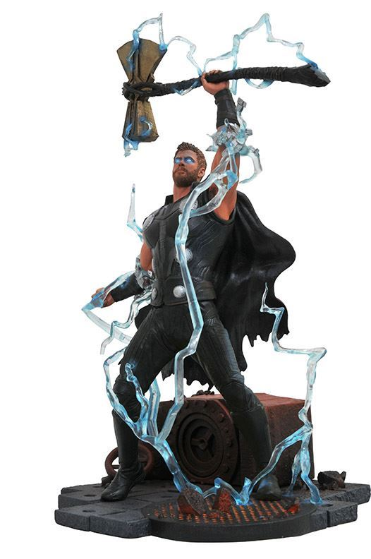 THOR STATUE - AVENGERS INFINITY WAR - MARVEL GALLERY - DIAMOND SELECT TOYS - 23 CM – (2) - 699788828649 – kingdom-figurine.fr