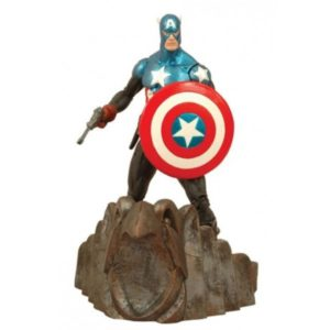 CAPTAIN AMERICA FIGURINE ARTICULÉE - MARVEL - DIAMOND SELECT TOYS - 18 CM – (1) - 699788108291 – kingdom-figurine.fr