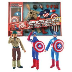 CAPTAIN AMERICA FIGURINE ARTICULÉE - MARVEL RETRO - COLLECTOR SET - DIAMOND SELECT TOYS - 20 CM – 699788179499 – kingdom-figurine.fr