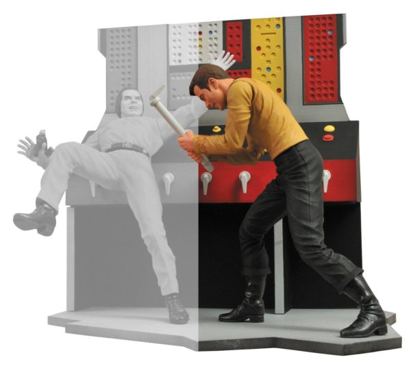 CAPTAIN KIRK FIGURINE - STAR TREK - DIAMOND SELECT TOYS - 18 CM – (2) - 699788178508 – kingdom-figurine.fr