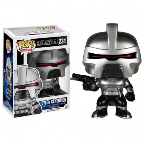 CYLON CENTURION FIGURINE - BATTLESTAR GALACTICA - FUNKO - POP TV 231 – 849803051228 – kingdom-figurine.fr