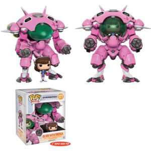 D.VA WITH MEKA FIGURINE - OVERWATCH - FUNKO SUPER SIZED - POP GAMES 177 – 889698130905 – kingdom-figurine.fr