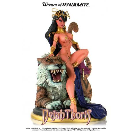 DEJAH THORIS STATUE - WOMEN OF DYNAMITE - BY J. SCOTT CAMPBELL – DYNAMITE ENTERTAINMENT - 22 CM – (1) - 725130264282 – kingdom-figurine.fr