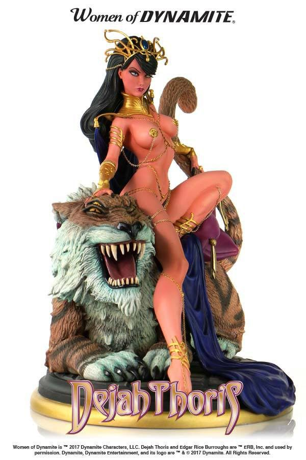 DEJAH THORIS STATUE - WOMEN OF DYNAMITE - BY J. SCOTT CAMPBELL – DYNAMITE ENTERTAINMENT - 22 CM – (2) - 725130264282 – kingdom-figurine.fr