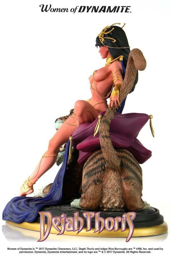 DEJAH THORIS STATUE - WOMEN OF DYNAMITE - BY J. SCOTT CAMPBELL – DYNAMITE ENTERTAINMENT - 22 CM – (4) - 725130264282 – kingdom-figurine.fr
