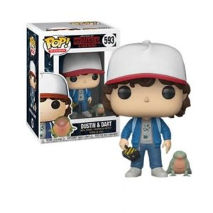 DUSTIN & DART FIGURINE - STRANGER THINGS - EXCLU - FUNKO - POP TV 593 –(1) - 889698243636 – kingdom-figurine.fr